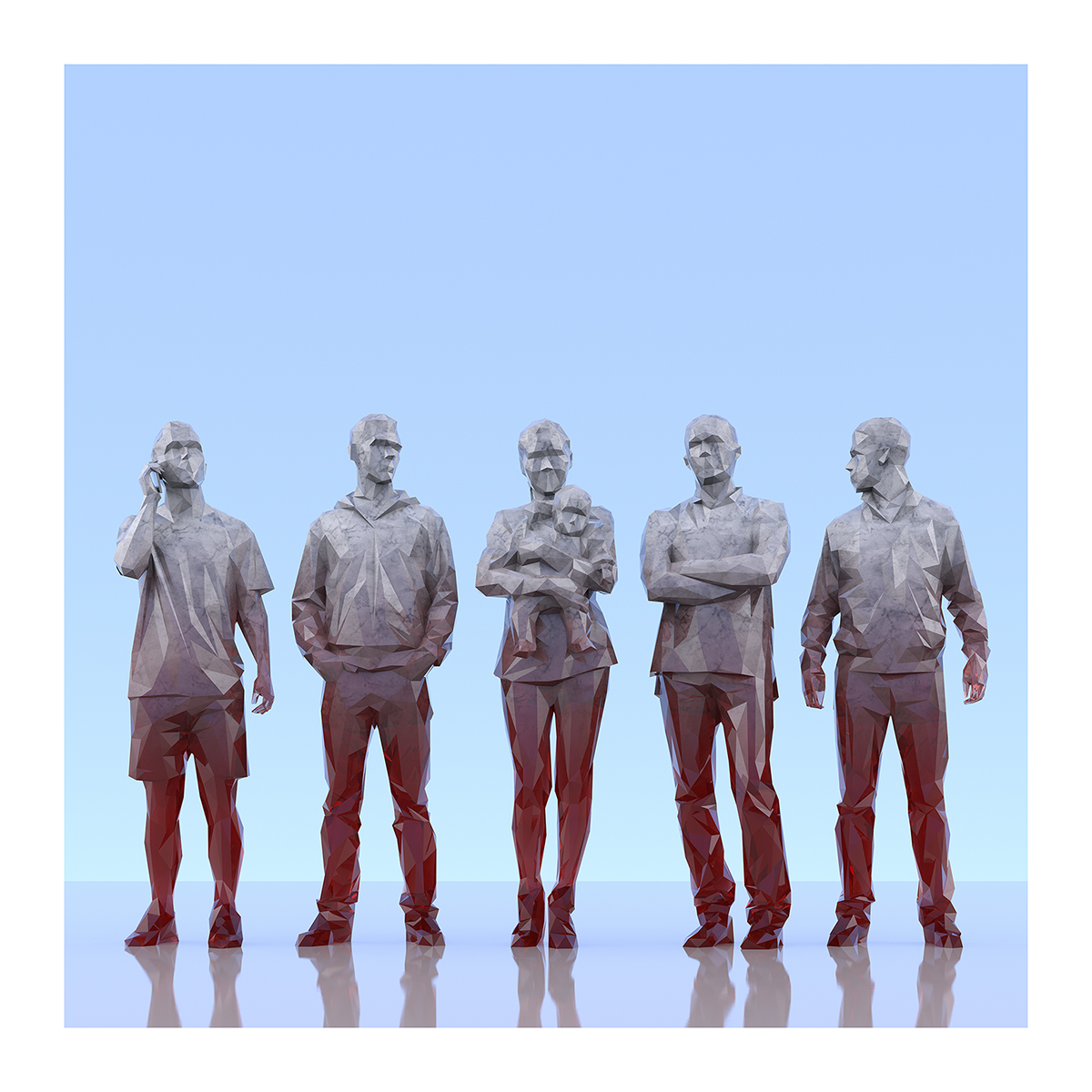 This was HomoSapiens III 002 2 - 2019 - This was HomoSapiens. III. (LowPoly People)