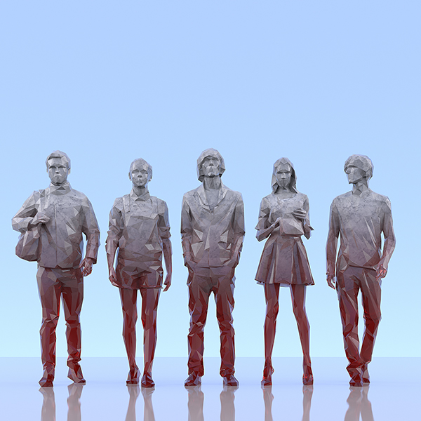 This was HomoSapiens III 003 - 2019 - This was HomoSapiens. III. (LowPoly People)
