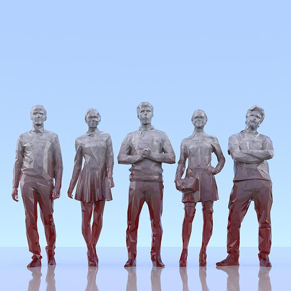 This was HomoSapiens III 005 - 2019 - This was HomoSapiens. III. (LowPoly People)