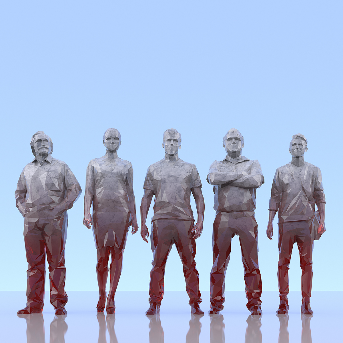 This was HomoSapiens III 007 1 - 2019 - This was HomoSapiens. III. (LowPoly People)