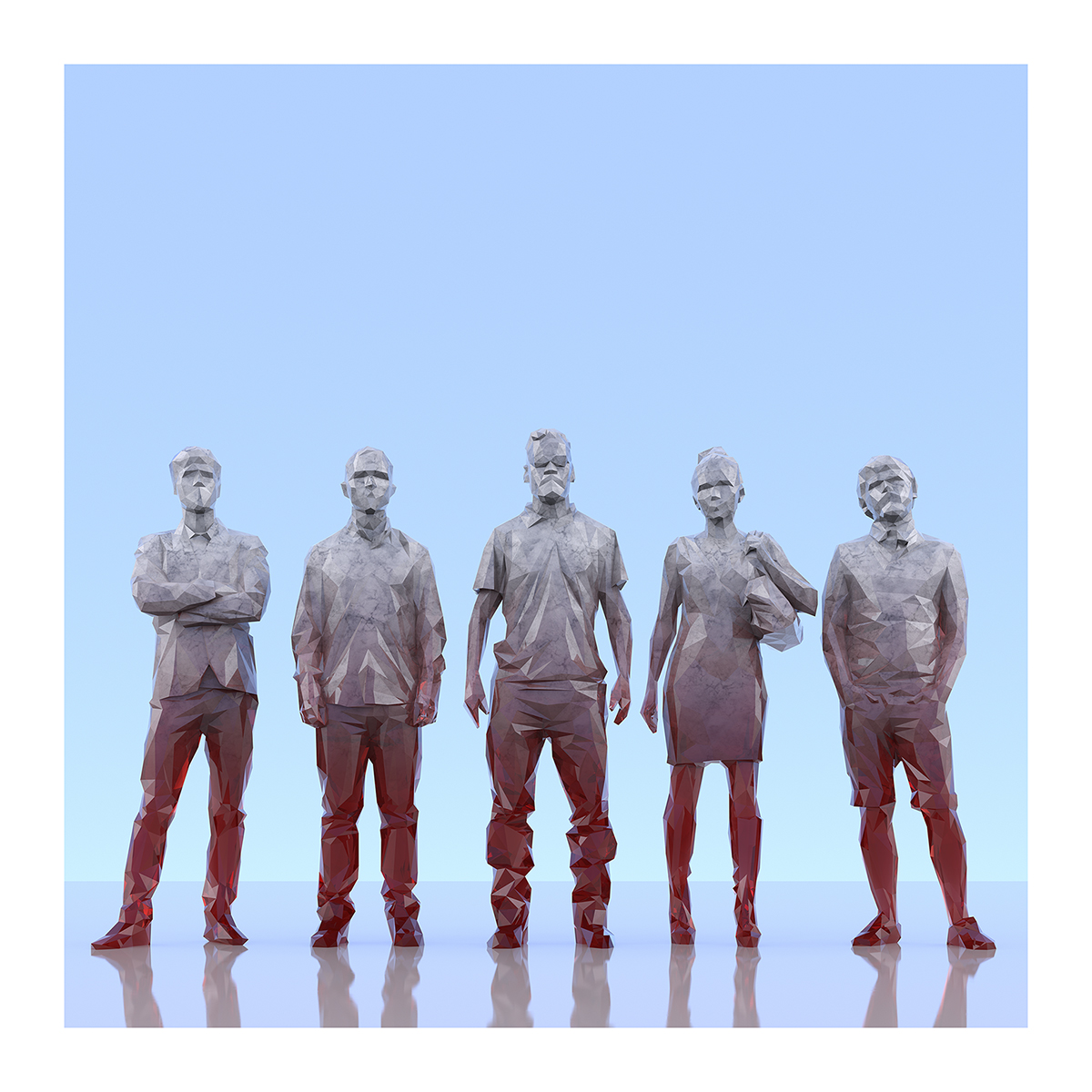 This was HomoSapiens III 009 1 - 2019 - This was HomoSapiens. III. (LowPoly People)