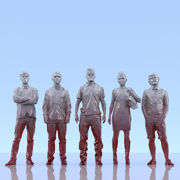 This was HomoSapiens III 009 - 2019 - This was HomoSapiens. III. (LowPoly People)