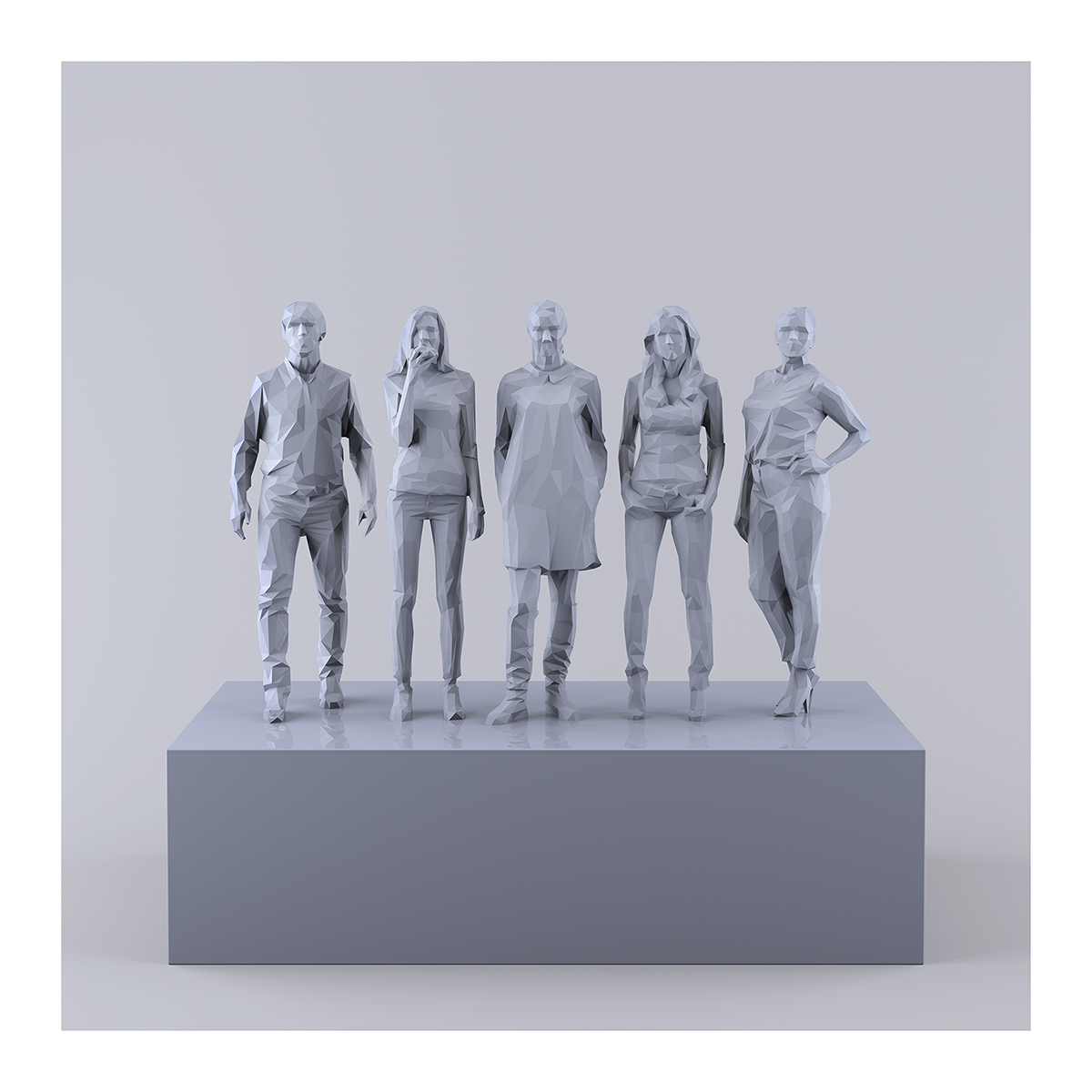 This was HomoSapiens IV 001 1 - 2019 - This was HomoSapiens. IV. (LowPoly People)