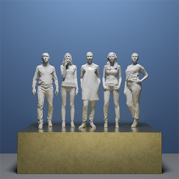 This was HomoSapiens IV 001 - 2019 - This was HomoSapiens. IV. (LowPoly People)