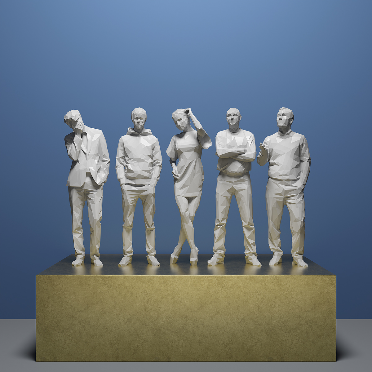 This was HomoSapiens IV 002 1 - 2019 - This was HomoSapiens. IV. (LowPoly People)