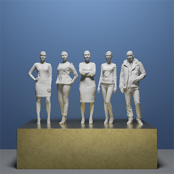 This was HomoSapiens IV 003 - 2019 - This was HomoSapiens. IV. (LowPoly People)