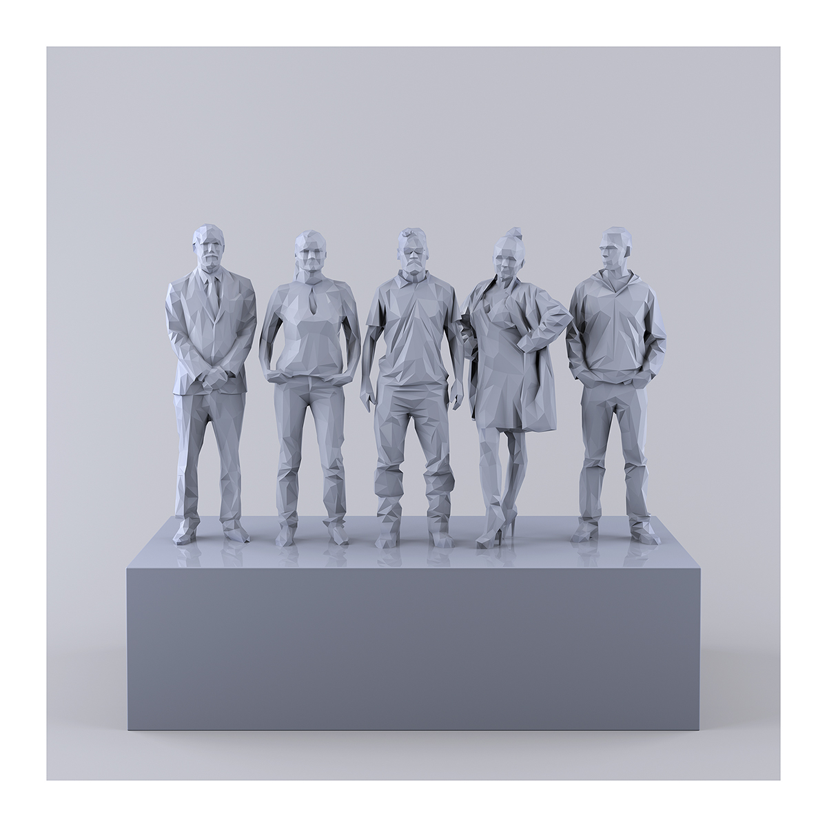 This was HomoSapiens IV 004 1 - 2019 - This was HomoSapiens. IV. (LowPoly People)