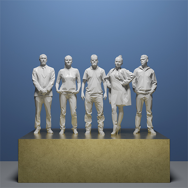 This was HomoSapiens IV 004 - 2019 - This was HomoSapiens. IV. (LowPoly People)