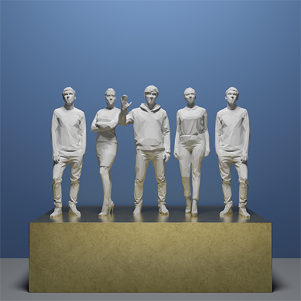 This was HomoSapiens IV 005 - 2019 - This was HomoSapiens. IV. (LowPoly People)