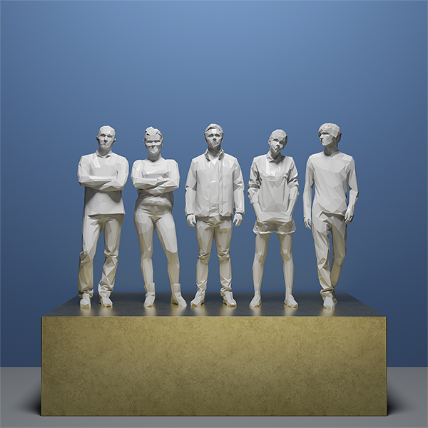 This was HomoSapiens IV 006 - 2019 - This was HomoSapiens. IV. (LowPoly People)
