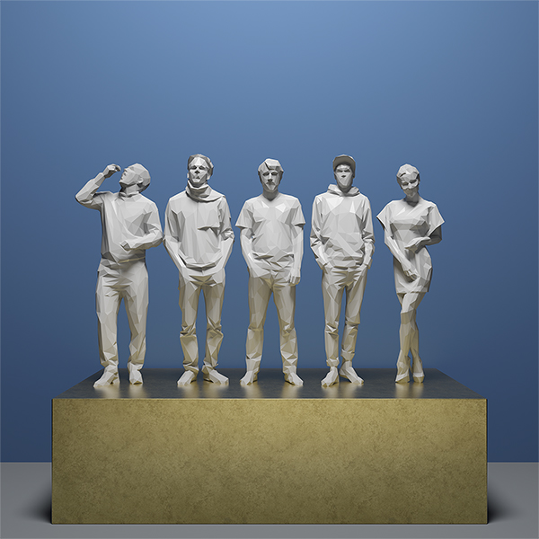 This was HomoSapiens IV 009 - 2019 - This was HomoSapiens. IV. (LowPoly People)