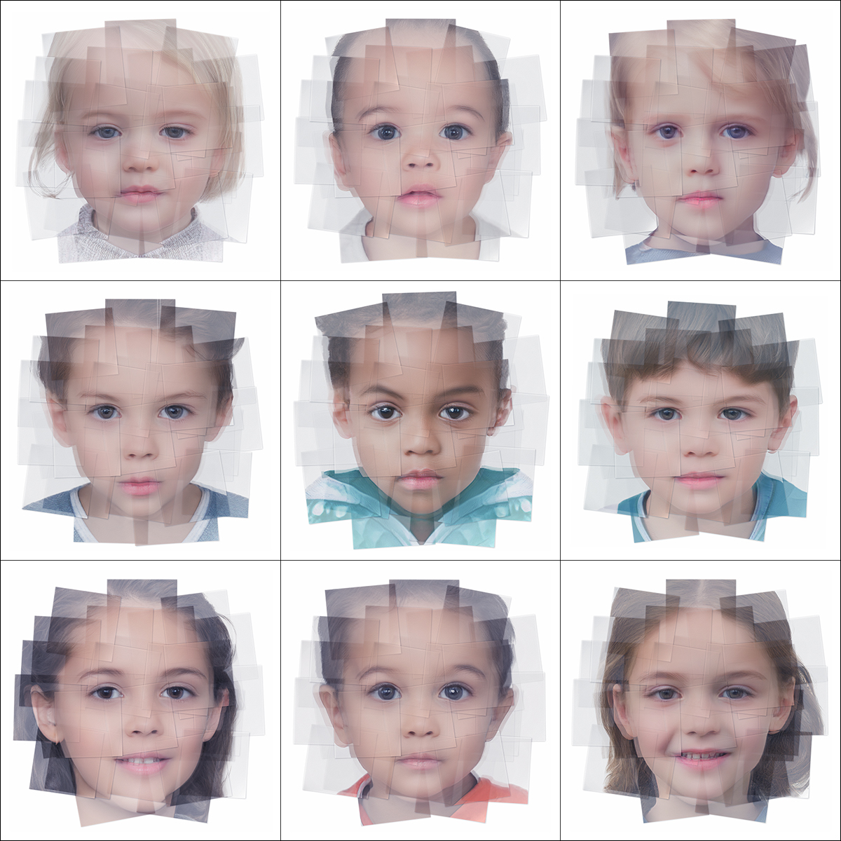 Generated Faces by Artificial Intelligence Kids 000 1 - 2019 - Generated Faces by Artificial Intelligence. Kids. V1