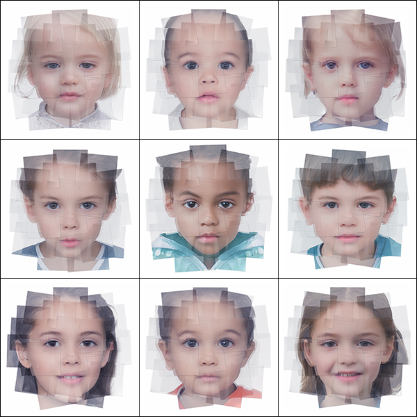 Generated Faces by Artificial Intelligence Kids 000 - 2019 - Generated Faces by Artificial Intelligence. Kids. V1