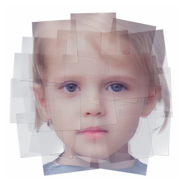 Generated Faces by Artificial Intelligence Kids 003 - 2019 - Generated Faces by Artificial Intelligence. Kids. V1