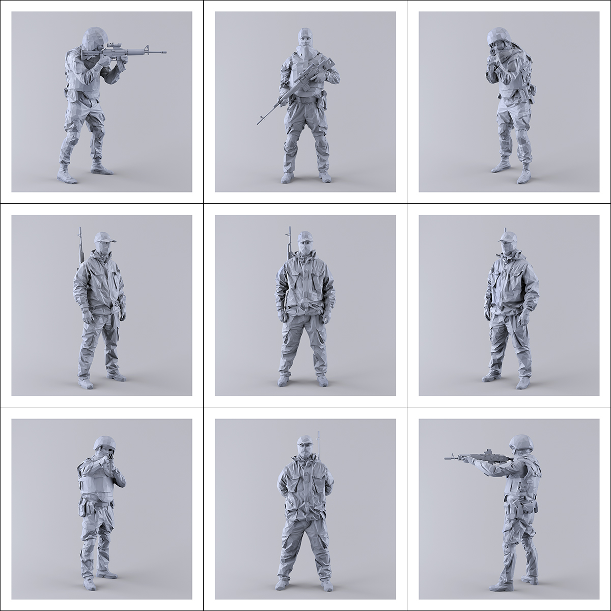This was HomoSapiens I MM 000 1 - 2019 - This was HomoSapiens. I. (LowPoly Military Men)
