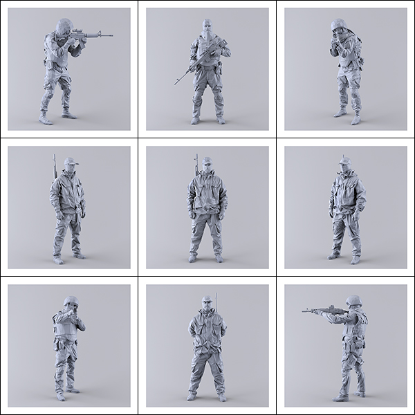 This was HomoSapiens I MM 000 - 2019 - This was HomoSapiens. I. (LowPoly Military Men)
