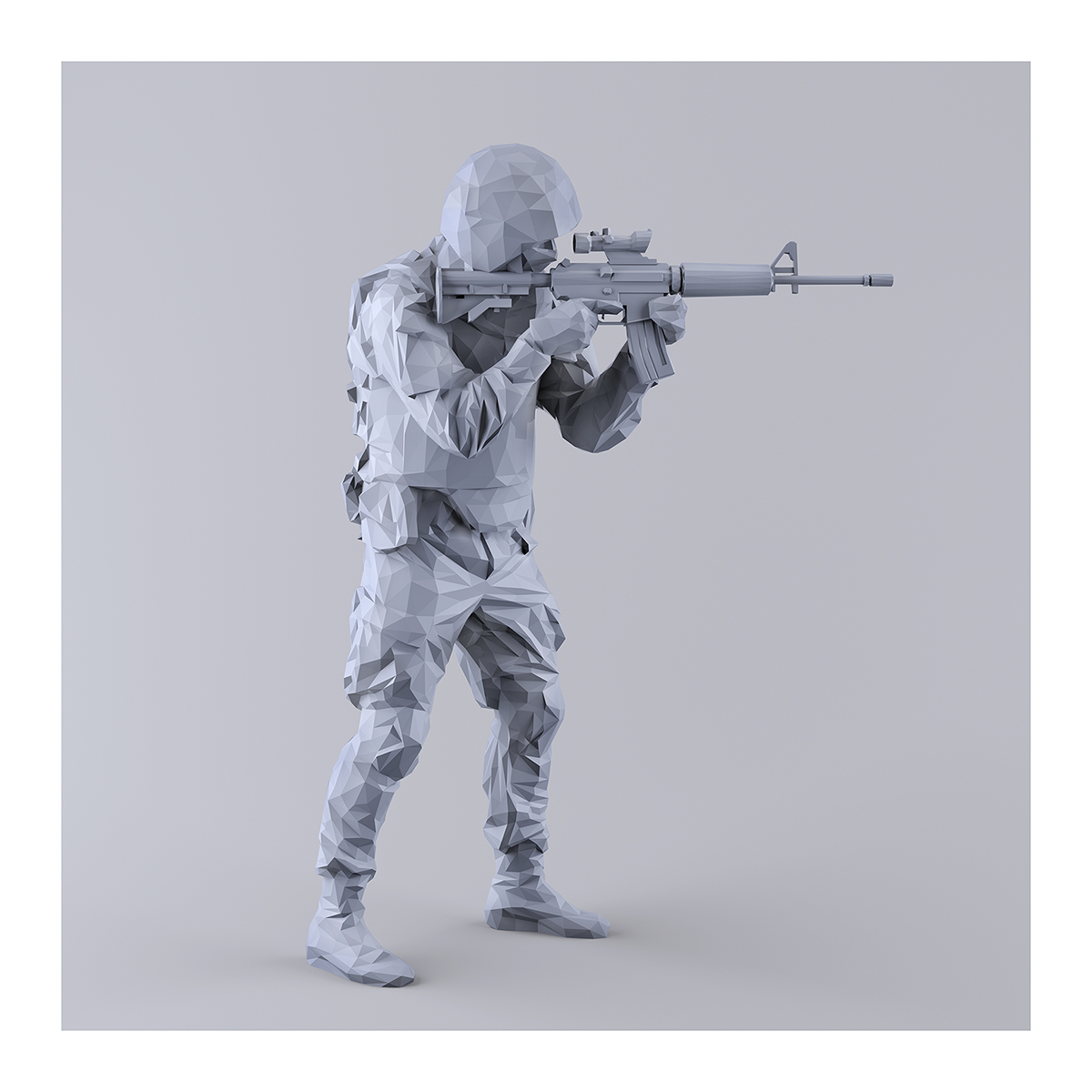 This was HomoSapiens I MM 001 1 - 2019 - This was HomoSapiens. I. (LowPoly Military Men)