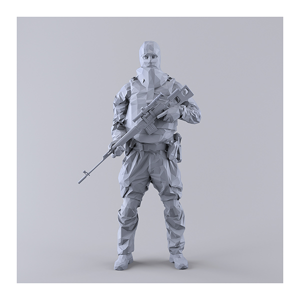 This was HomoSapiens I MM 002 - 2019 - This was HomoSapiens. I. (LowPoly Military Men)
