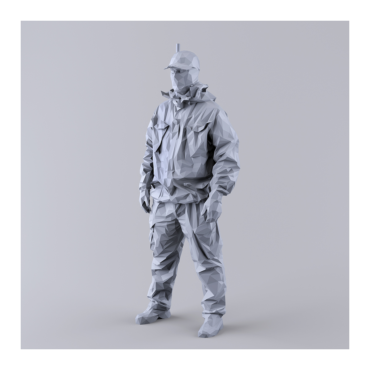 This was HomoSapiens I MM 006 1 - 2019 - This was HomoSapiens. I. (LowPoly Military Men)