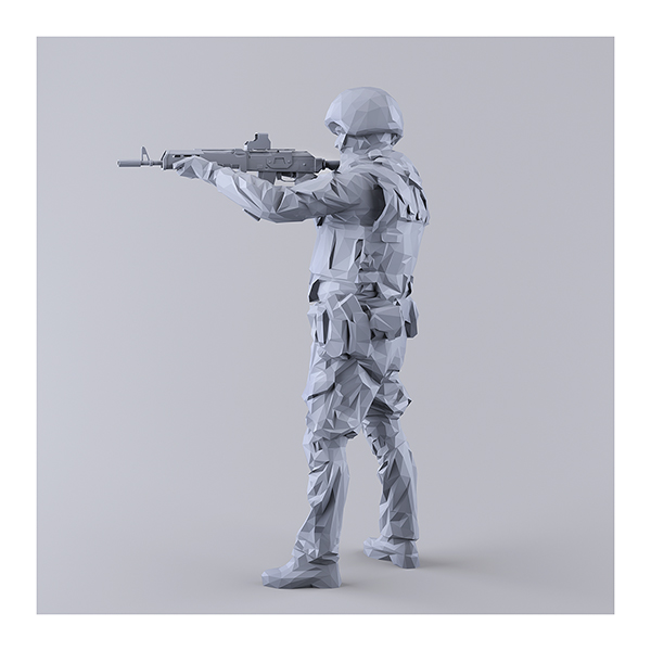 This was HomoSapiens I MM 009 - 2019 - This was HomoSapiens. I. (LowPoly Military Men)