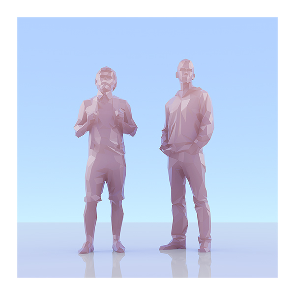 This was HomoSapiens II 003 - 2019 - This was HomoSapiens. II. (LowPoly People)