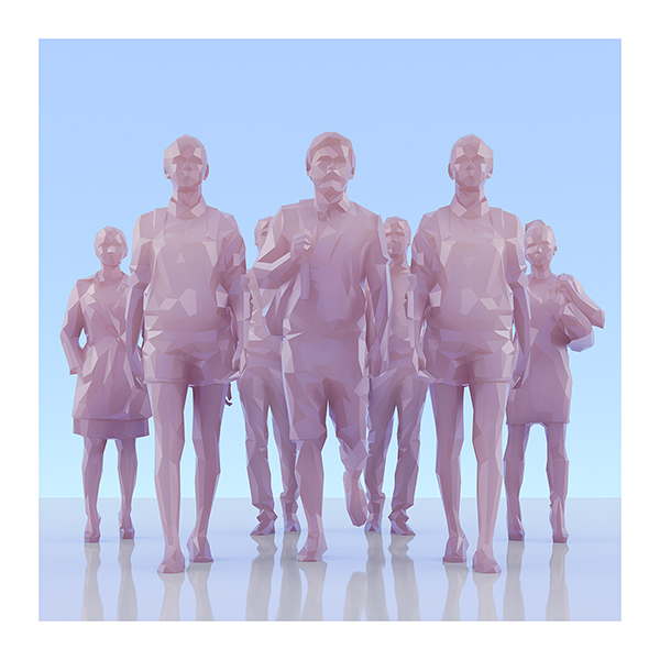 This was HomoSapiens II 005 - 2019 - This was HomoSapiens. II. (LowPoly People)