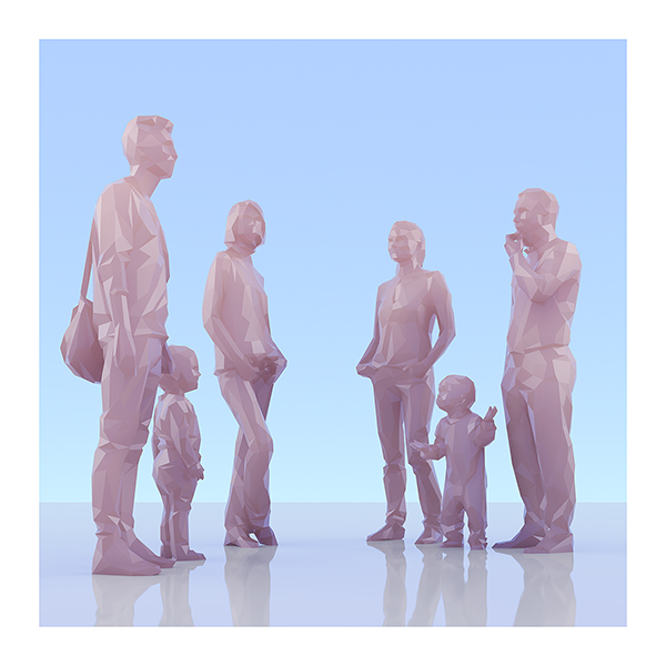 This was HomoSapiens II 007 - 2019 - This was HomoSapiens. II. (LowPoly People)