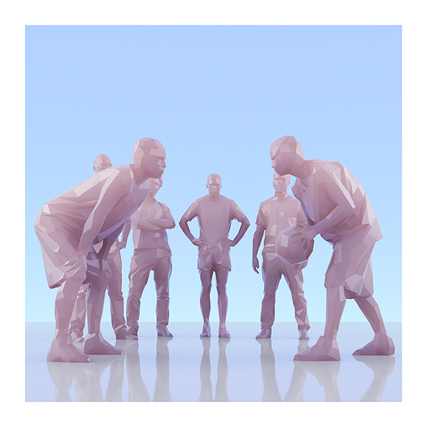 This was HomoSapiens II 008 - 2019 - This was HomoSapiens. II. (LowPoly People)