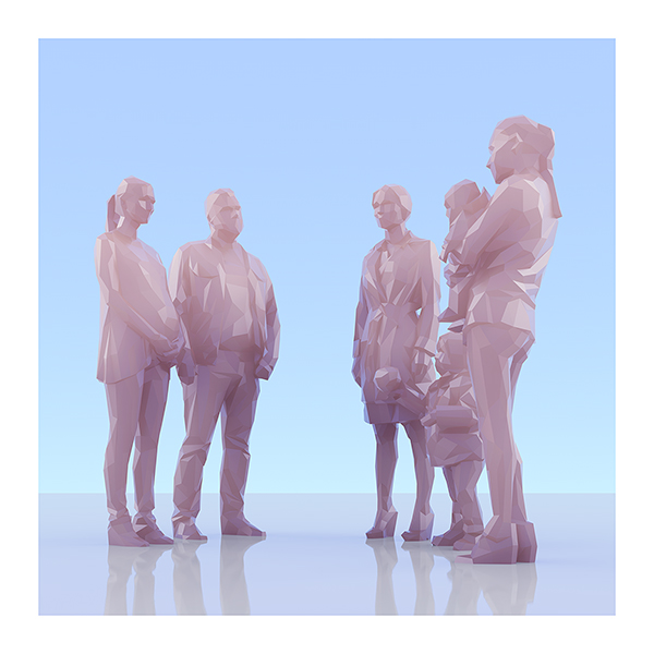 This was HomoSapiens II 009 - 2019 - This was HomoSapiens. II. (LowPoly People)
