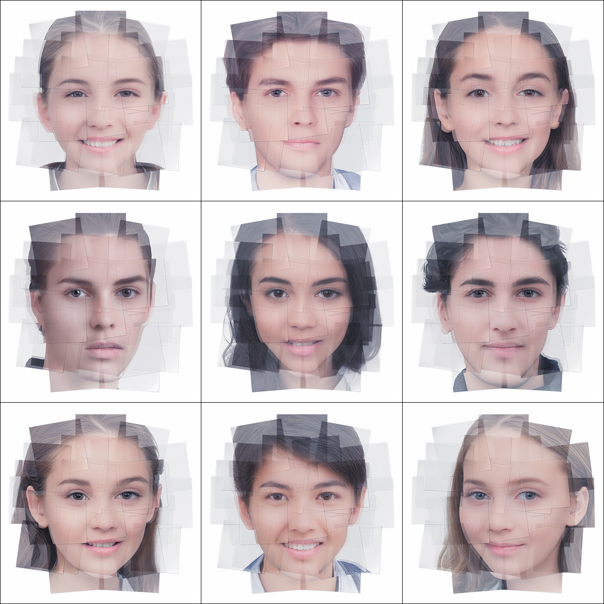 Generated Faces by Artificial Intelligence Teens 000 1 - 2019 - Generated Faces by Artificial Intelligence. Teens. V1