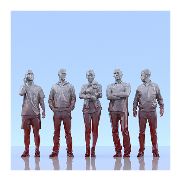 This was HomoSapiens III 002 - 2019 - This was HomoSapiens. III. (LowPoly People)