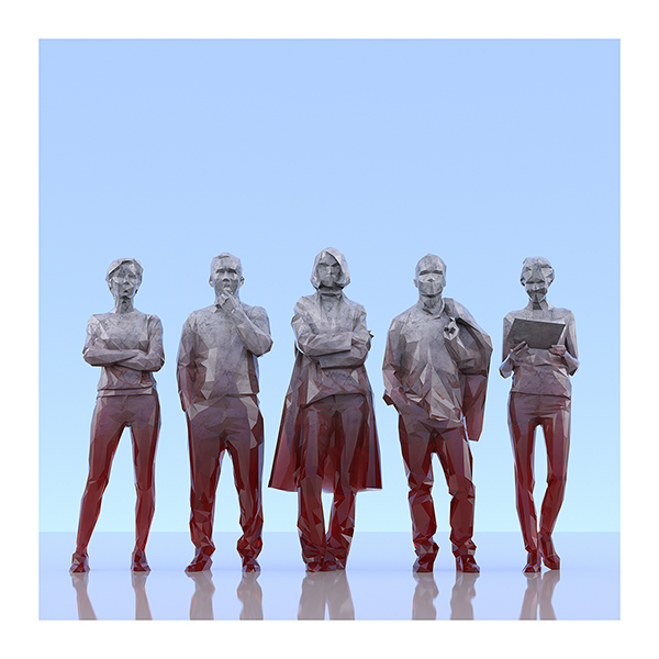 This was HomoSapiens III 004 - 2019 - This was HomoSapiens. III. (LowPoly People)