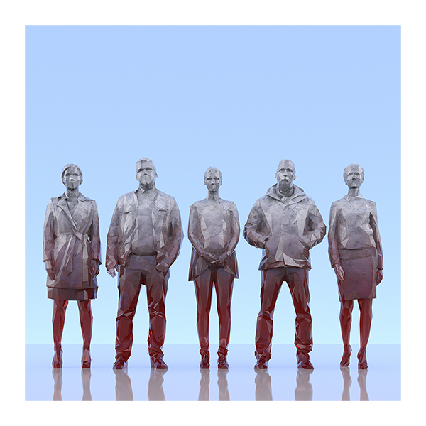 This was HomoSapiens III 006 - 2019 - This was HomoSapiens. III. (LowPoly People)