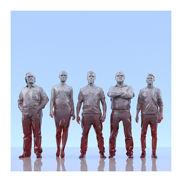 This was HomoSapiens III 007 - 2019 - This was HomoSapiens. III. (LowPoly People)