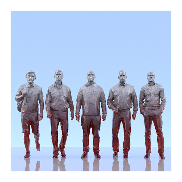 This was HomoSapiens III 008 - 2019 - This was HomoSapiens. III. (LowPoly People)