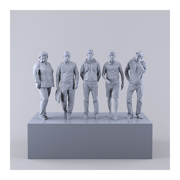 This was HomoSapiens IV 007 - 2019 - This was HomoSapiens. IV. (LowPoly People)