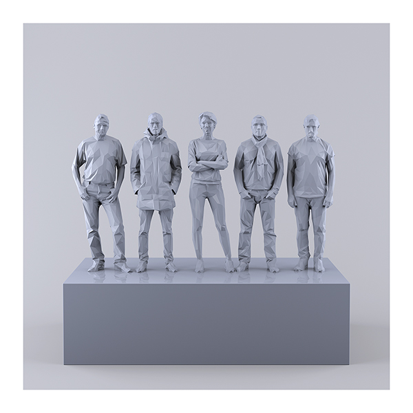 This was HomoSapiens IV 008 - 2019 - This was HomoSapiens. IV. (LowPoly People)