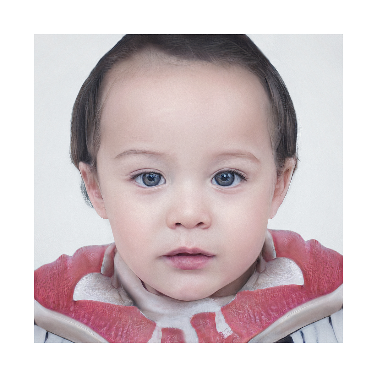 Generated Faces by AI BabIes V1 002 - 2020 - Generated Faces by Artificial Intelligence. Babies. V1
