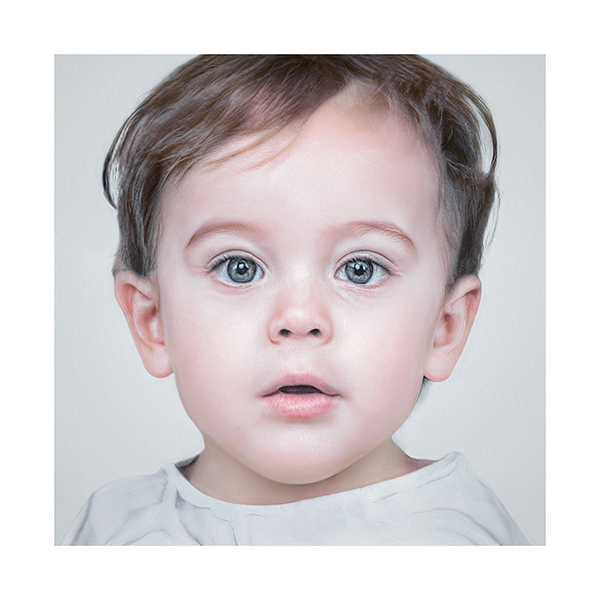 Generated Faces by AI Baby V1 001 - 2020 - Generated Faces by Artificial Intelligence. Baby. V1