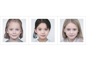 Generated Faces by AI Kids Girls V1 000 300x214 - 2020 - Generated Faces by Artificial Intelligence. Kids, Girls. V1