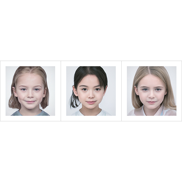 Generated Faces by AI Kids Girls V1 000 - 2020 - Generated Faces by Artificial Intelligence. Kids, Girls. V1