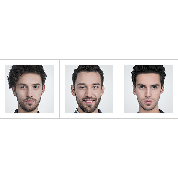 Generated Faces by AI Young Men V1 000 - 2020 - Generated Faces by Artificial Intelligence. Young Men. V1