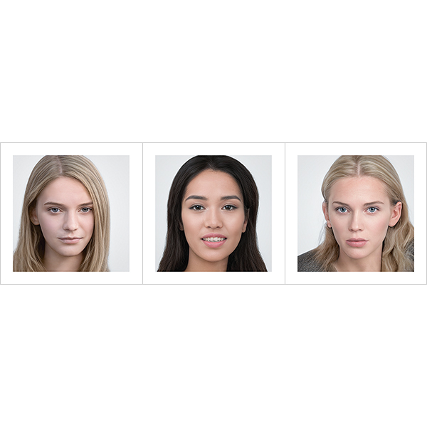 Generated Faces by AI Young WoMen V1 000 - 2020 - Generated Faces by Artificial Intelligence. Young WoMen. V1
