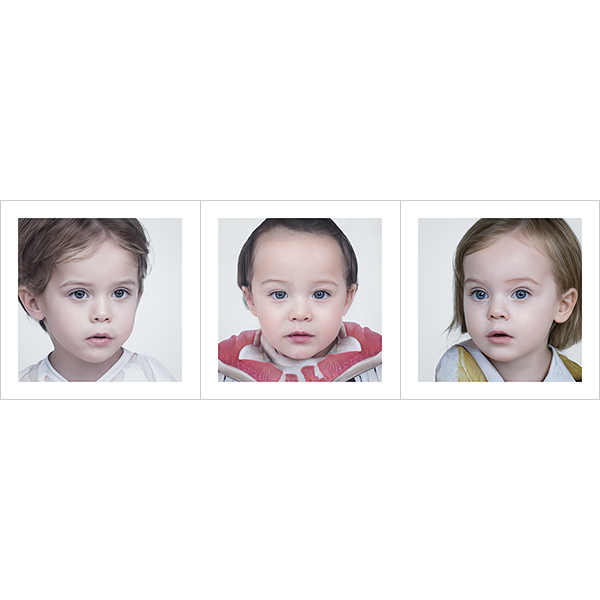 Generated Faces by AI BabIes V1 000 - 2020 - Generated Faces by Artificial Intelligence. Babies. V1