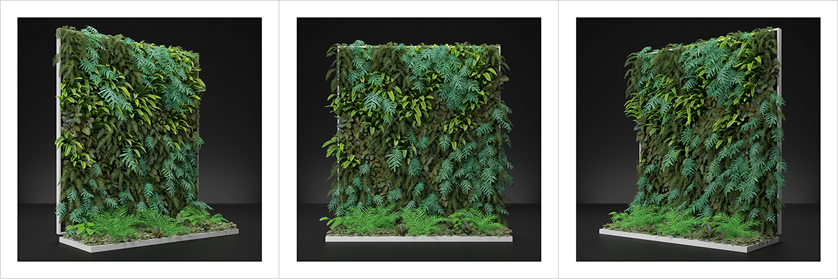 Virtual Vertical Garden N2 000 1200 400 - 2020 - Virtual Vertical Garden N°2