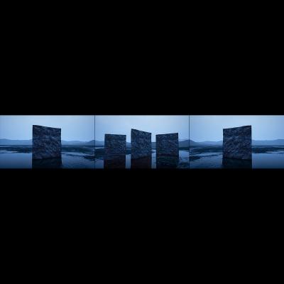 039 A Virtual Land Art V2 Triptych N°1 000 400x400 - Visuals. 2018