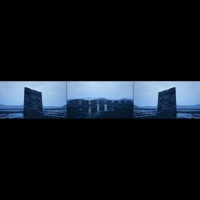 039 C Virtual Land Art V2 Triptych N°3 000 400x400 - Visuals. 2018