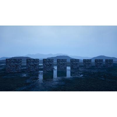 039 C Virtual Land Art V2 Triptych N°3 002 400x400 - Visuals. 2018