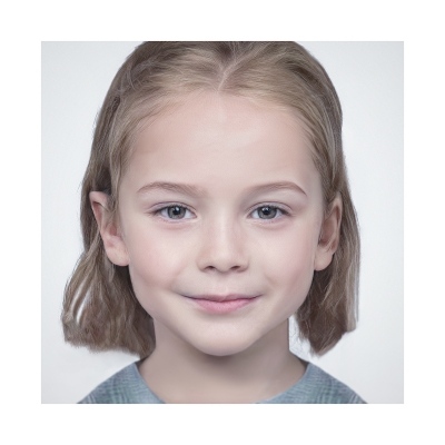 040 Generated Faces by AI Kids Girls V1 001 400x400 - Visuals. 2020