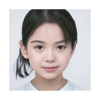 040 Generated Faces by AI Kids Girls V1 002 400x400 - Visuals. 2020